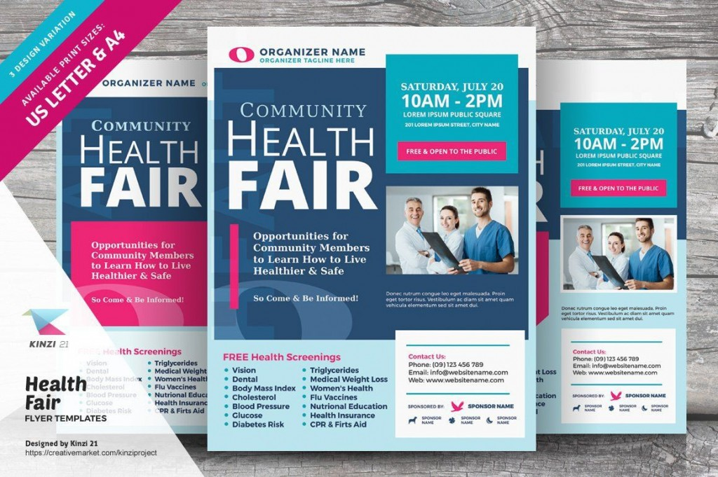 008 Dreaded Health Fair Flyer Template Free Example  DownloadLarge