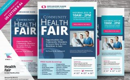 008 Dreaded Health Fair Flyer Template Free Example  Download