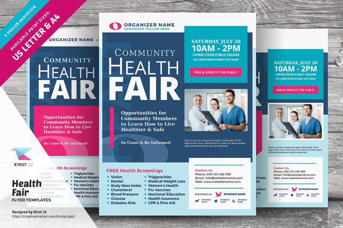 008 Dreaded Health Fair Flyer Template Free Example  DownloadFull