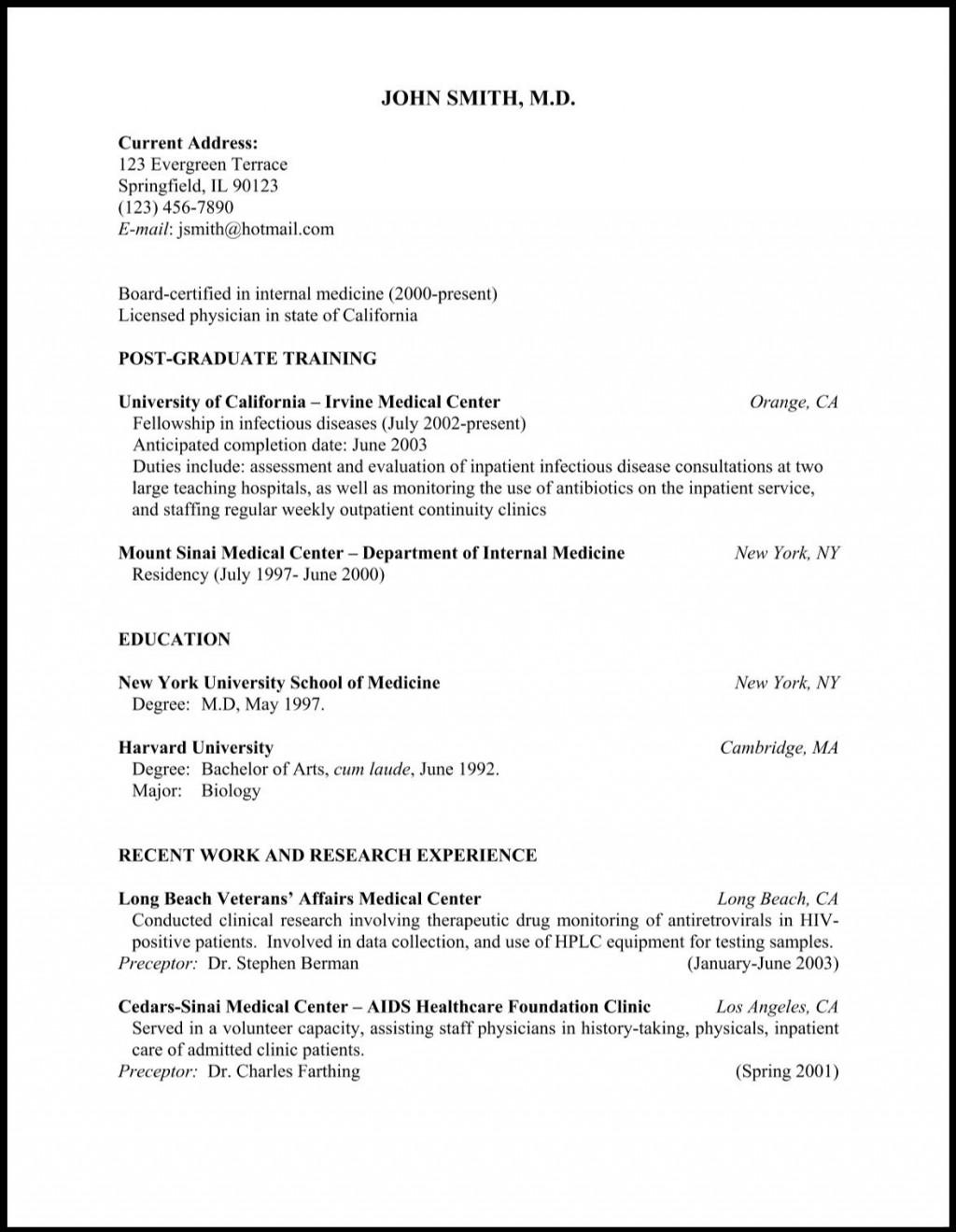 008 Dreaded Medical Curriculum Vitae Template Photo  Templates Word Sample StudentLarge