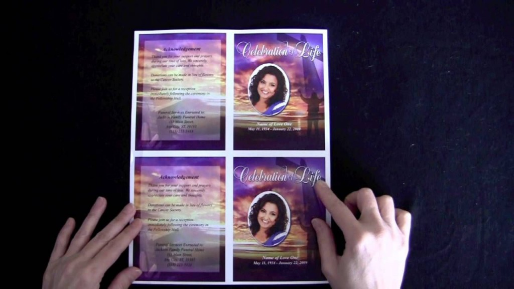 008 Dreaded Memorial Card Template Free Download Inspiration Large