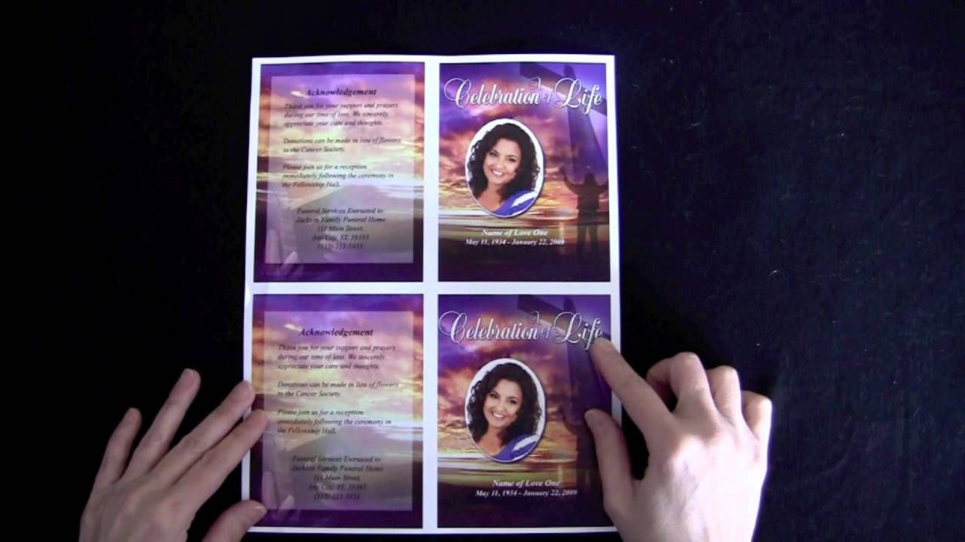 008 Dreaded Memorial Card Template Free Download Inspiration 1920