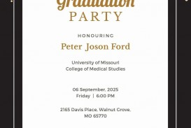 008 Dreaded Microsoft Word Graduation Party Invitation Template High Definition