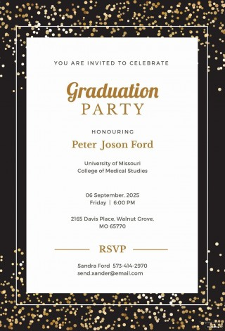008 Dreaded Microsoft Word Graduation Party Invitation Template High Definition 320