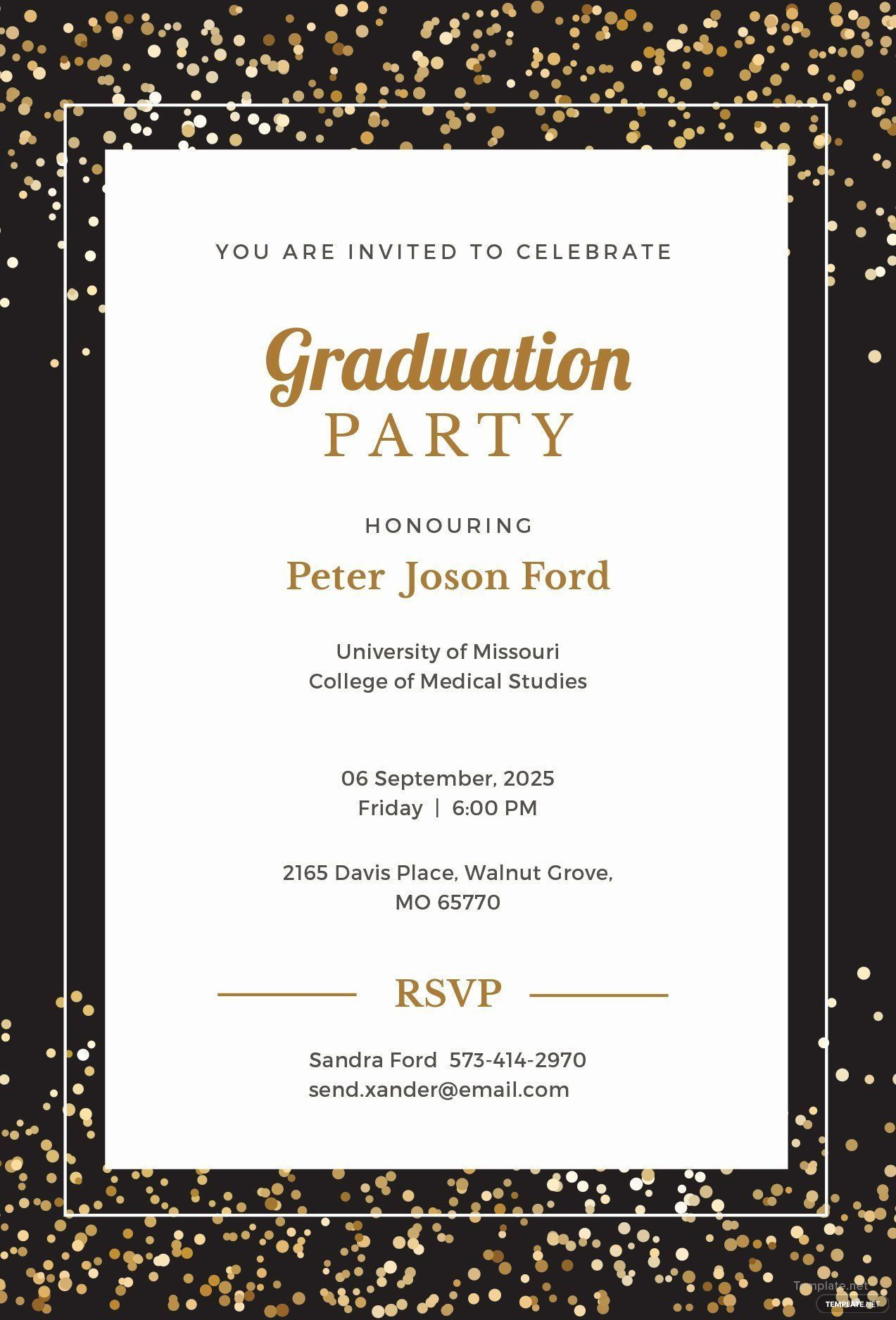 008 Dreaded Microsoft Word Graduation Party Invitation Template High Definition Full