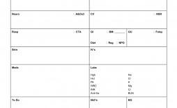 008 Dreaded Nursing Report Sheet Template Example  Icu Rn Printable