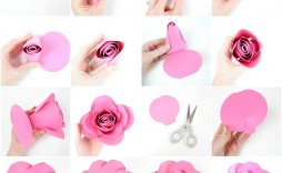 008 Dreaded Paper Rose Template Pdf Concept  Flower Giant Free Crepe
