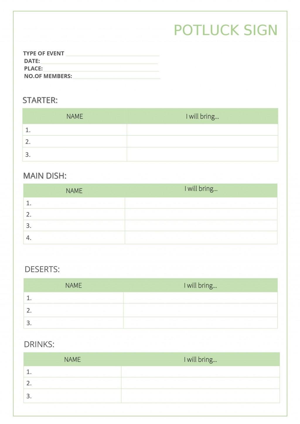 008 Dreaded Potluck Sign Up Sheet Template Highest Clarity  Pdf Google Doc Free PrintableLarge
