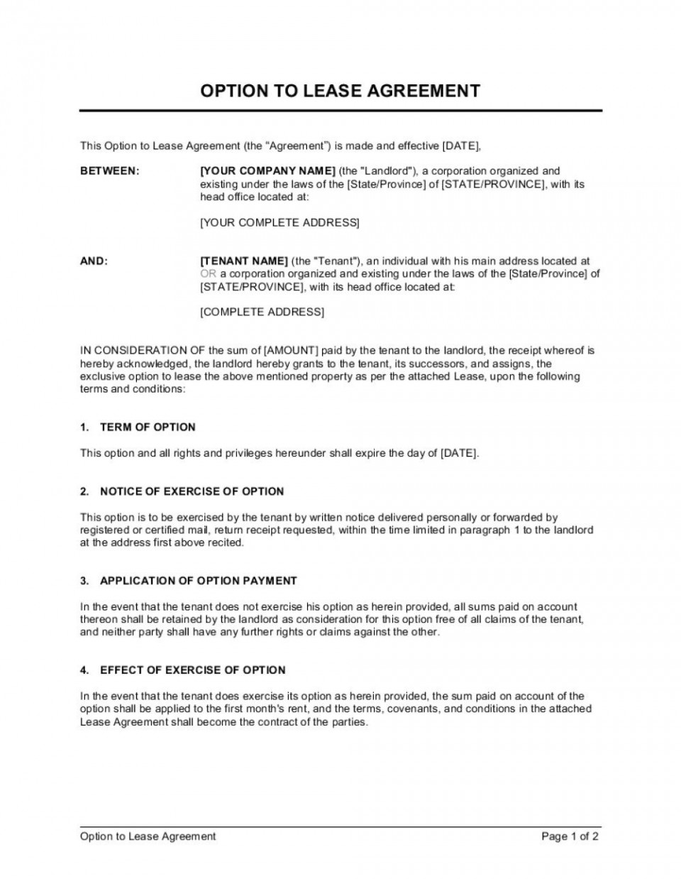 008 Dreaded Rent To Own Agreement Template Photo  Contract Florida South Africa960