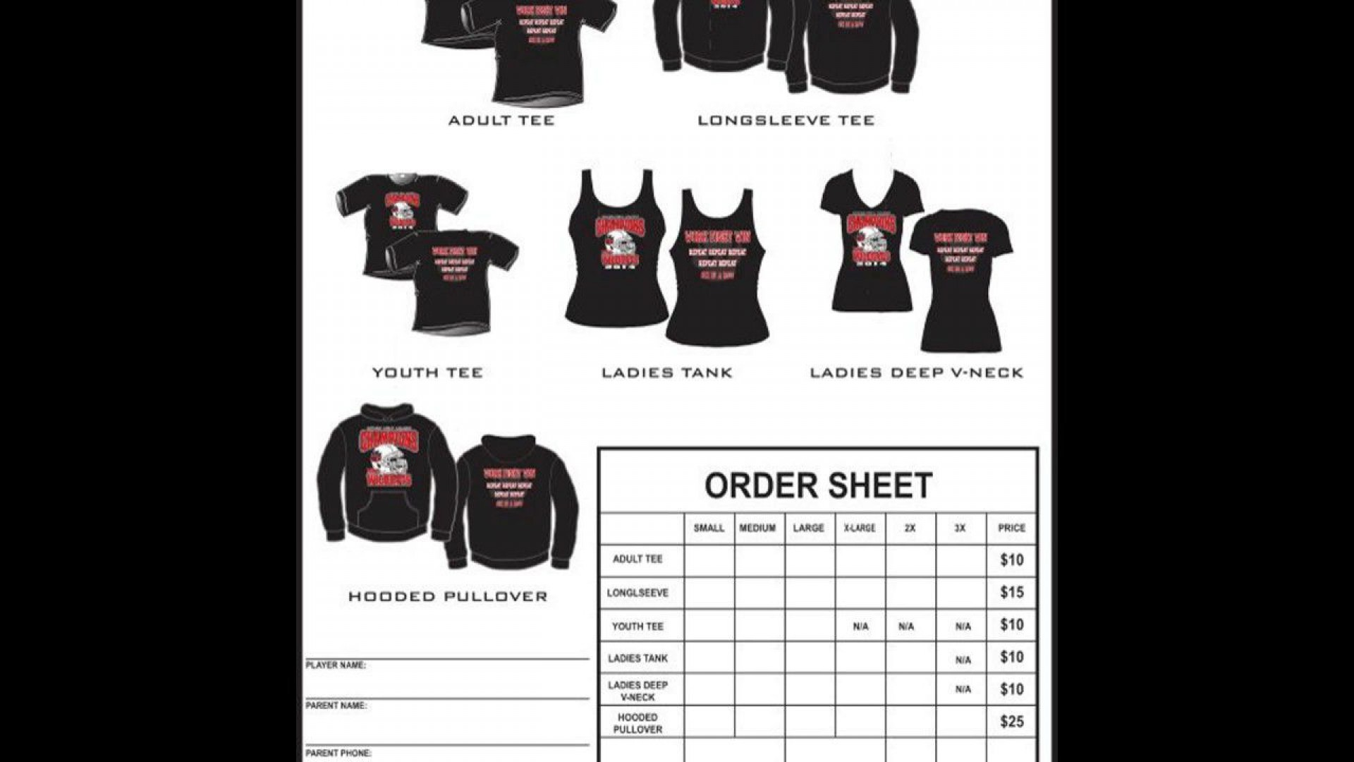 008 Dreaded Shirt Order Form Template Picture  Templates T Microsoft Word Excel Download Tee1920