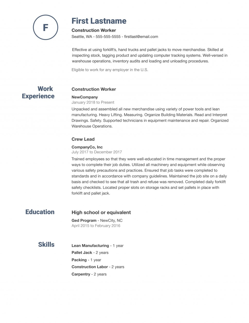 008 Dreaded Simple Job Resume Template Idea  Download FirstLarge