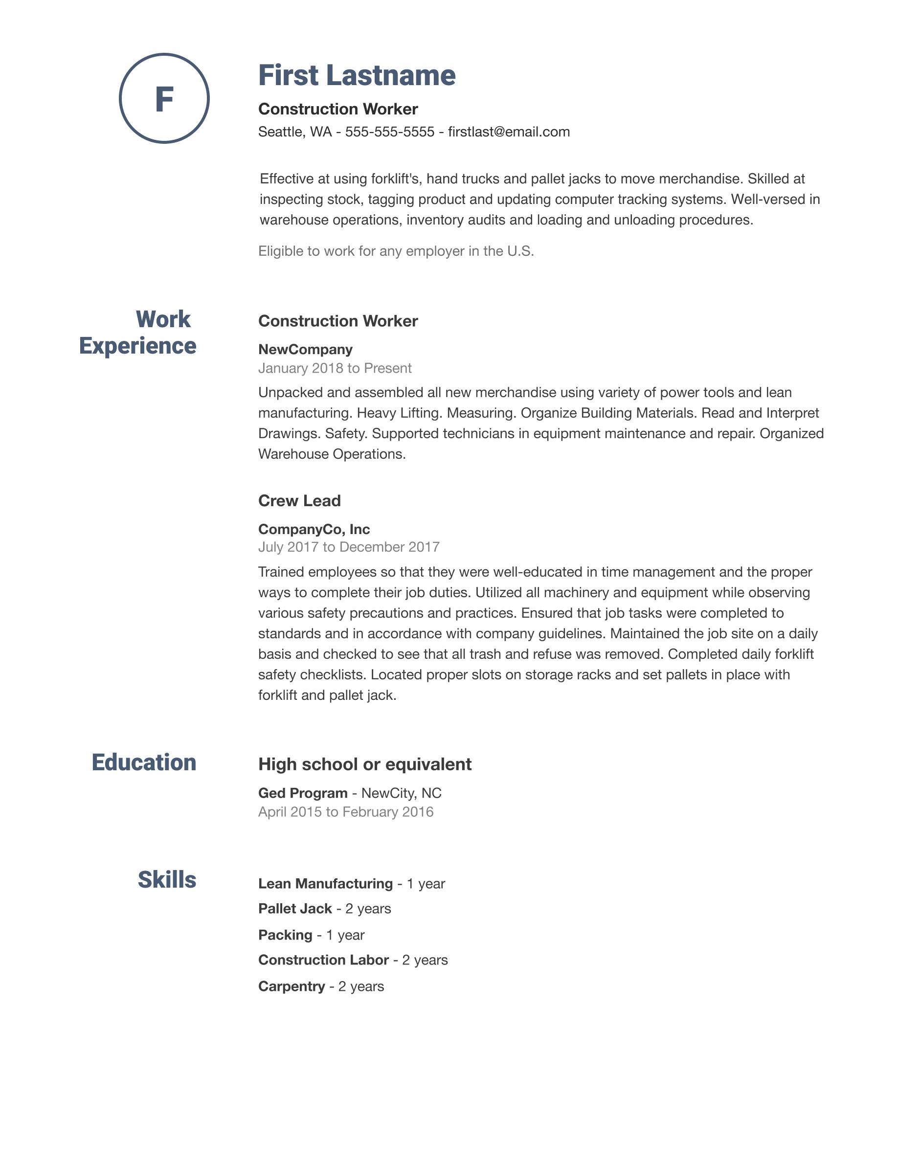 008 Dreaded Simple Job Resume Template Idea  Download FirstFull