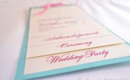 008 Dreaded Wedding Program Template Free Download Picture  Downloadable Pdf Reception Microsoft Word Fan