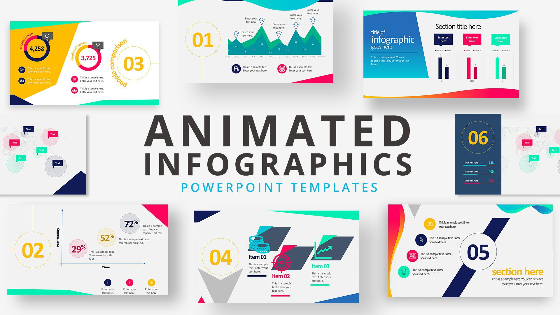 008 Excellent Animated Powerpoint Template Free Download High Def  2019 3d 2016 EducationFull