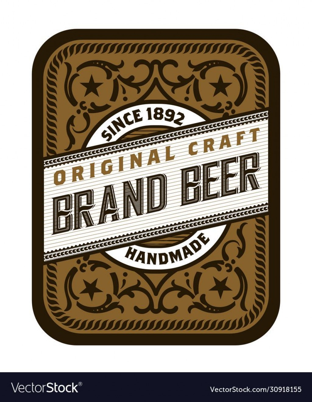 008 Excellent Beer Label Design Template  FreeLarge