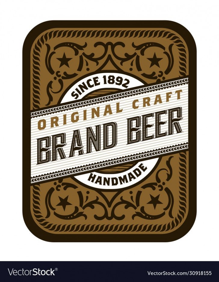 008 Excellent Beer Label Design Template  Free728