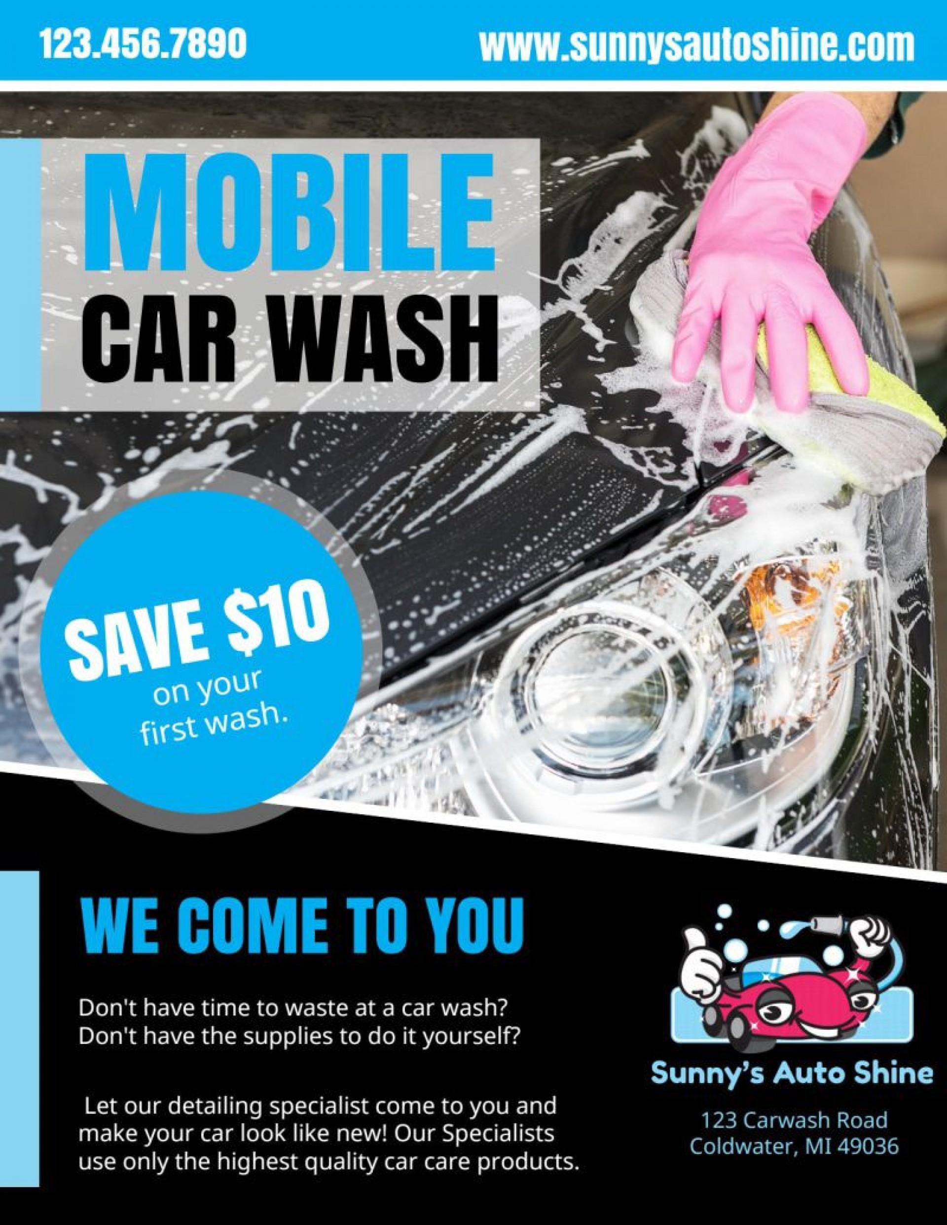 008 Excellent Car Wash Flyer Template Concept  Free Fundraiser Download1920