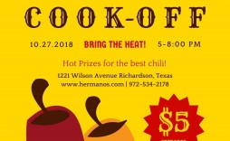 008 Excellent Chili Cook Off Flyer Template Example  Halloween Office Powerpoint