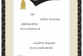 008 Excellent College Graduation Invitation Template Highest Quality  Party Free For Word