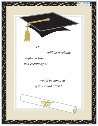 008 Excellent College Graduation Invitation Template Highest Quality  Party Free For Word320