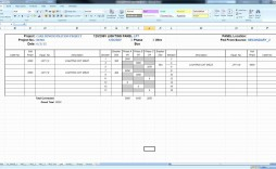 008 Excellent Electrical Panel Schedule Template Excel High Definition  Load Single Phase