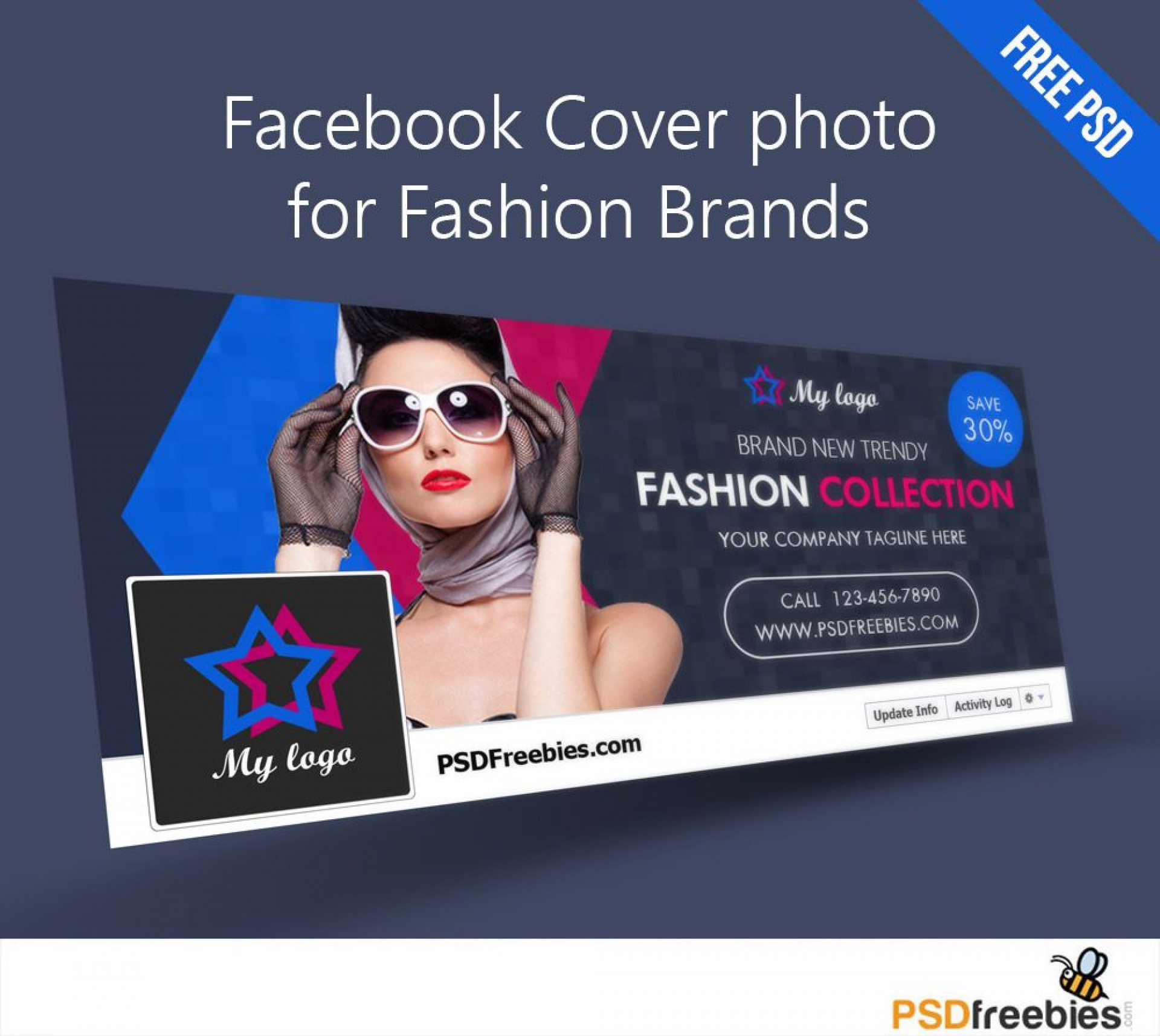 008 Excellent Facebook Cover Photo Photoshop Template High Def  2019 Page Profile Picture Size1920