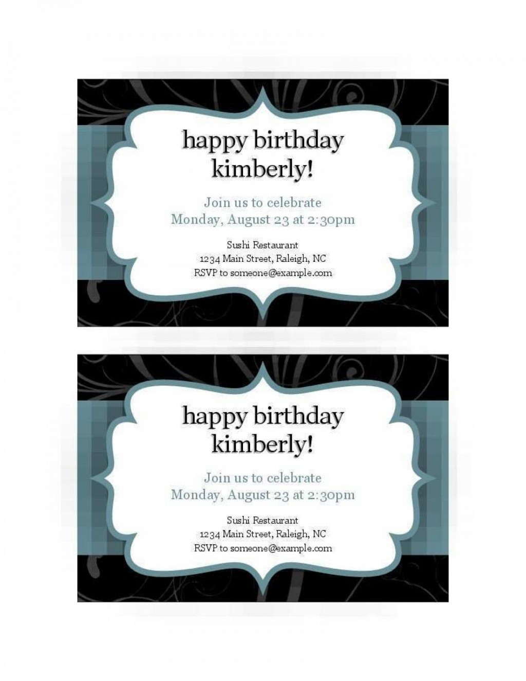 008 Excellent Free Busines Invitation Template For Word Highest Quality Large