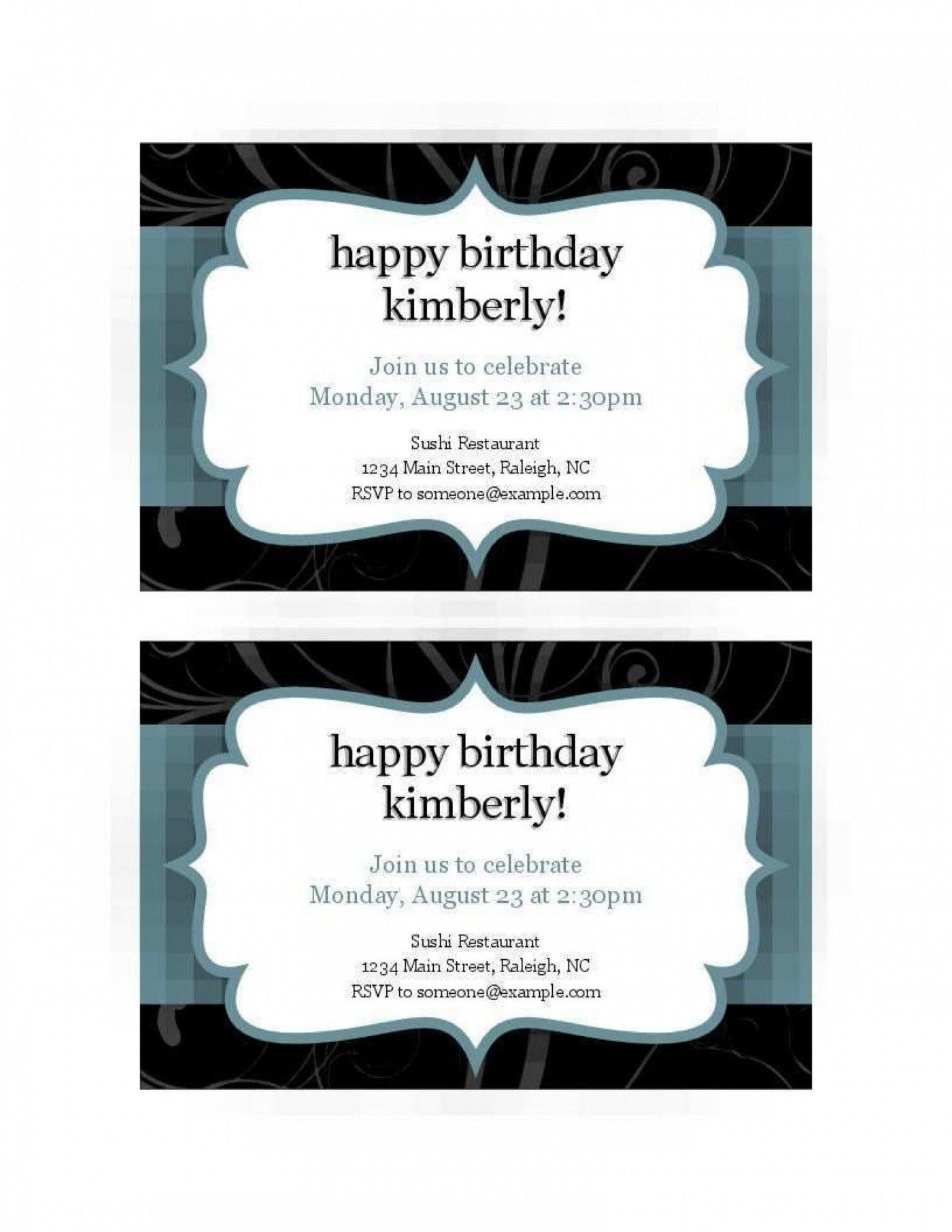 008 Excellent Free Busines Invitation Template For Word Highest Quality 1400