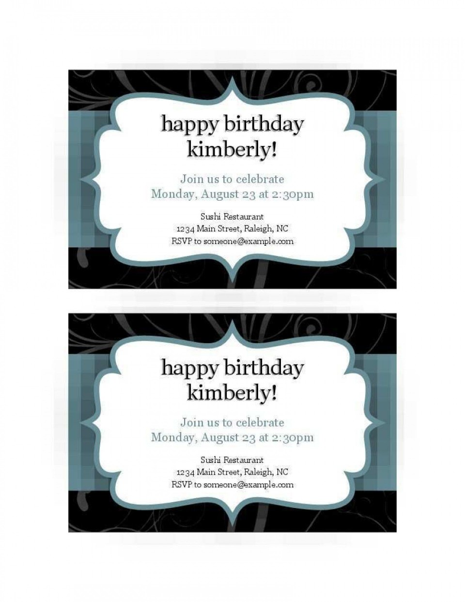 008 Excellent Free Busines Invitation Template For Word Highest Quality 960