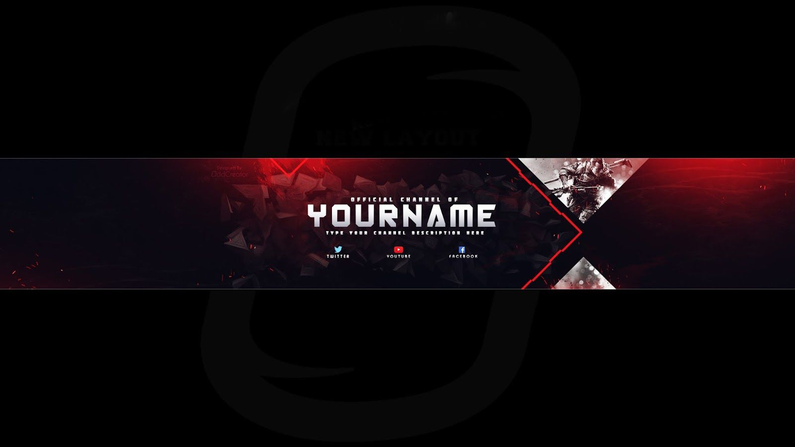 008 Excellent Free Channel Art Template Idea Full