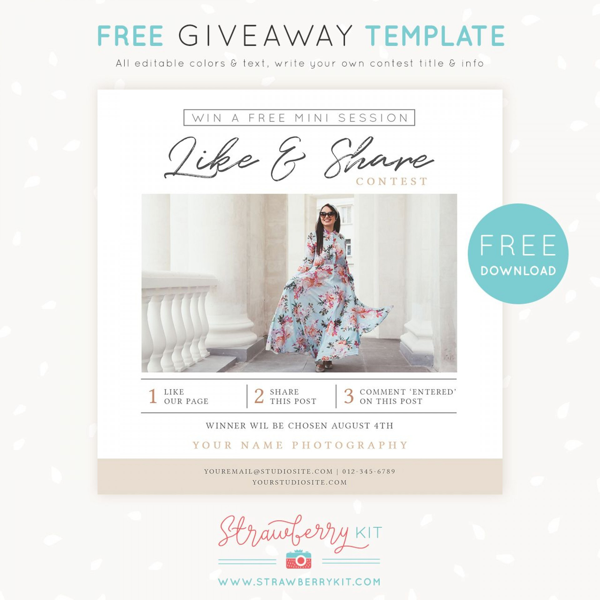 008 Excellent Free Photography Marketing Template Image  Templates Senior1920