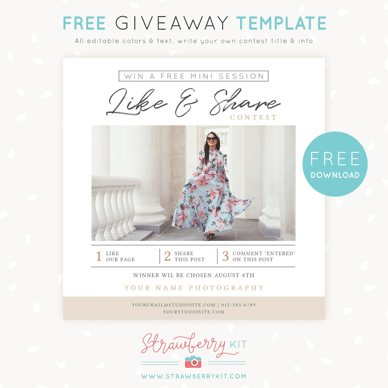 008 Excellent Free Photography Marketing Template Image  Templates SeniorFull