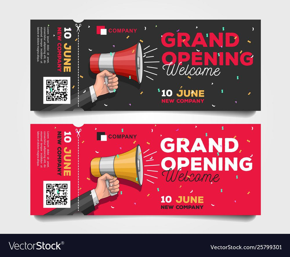 008 Excellent Grand Opening Flyer Template Free Highest Quality  RestaurantFull