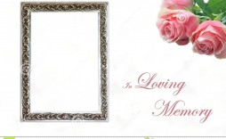 008 Excellent In Loving Memory Template Idea  Templates Word
