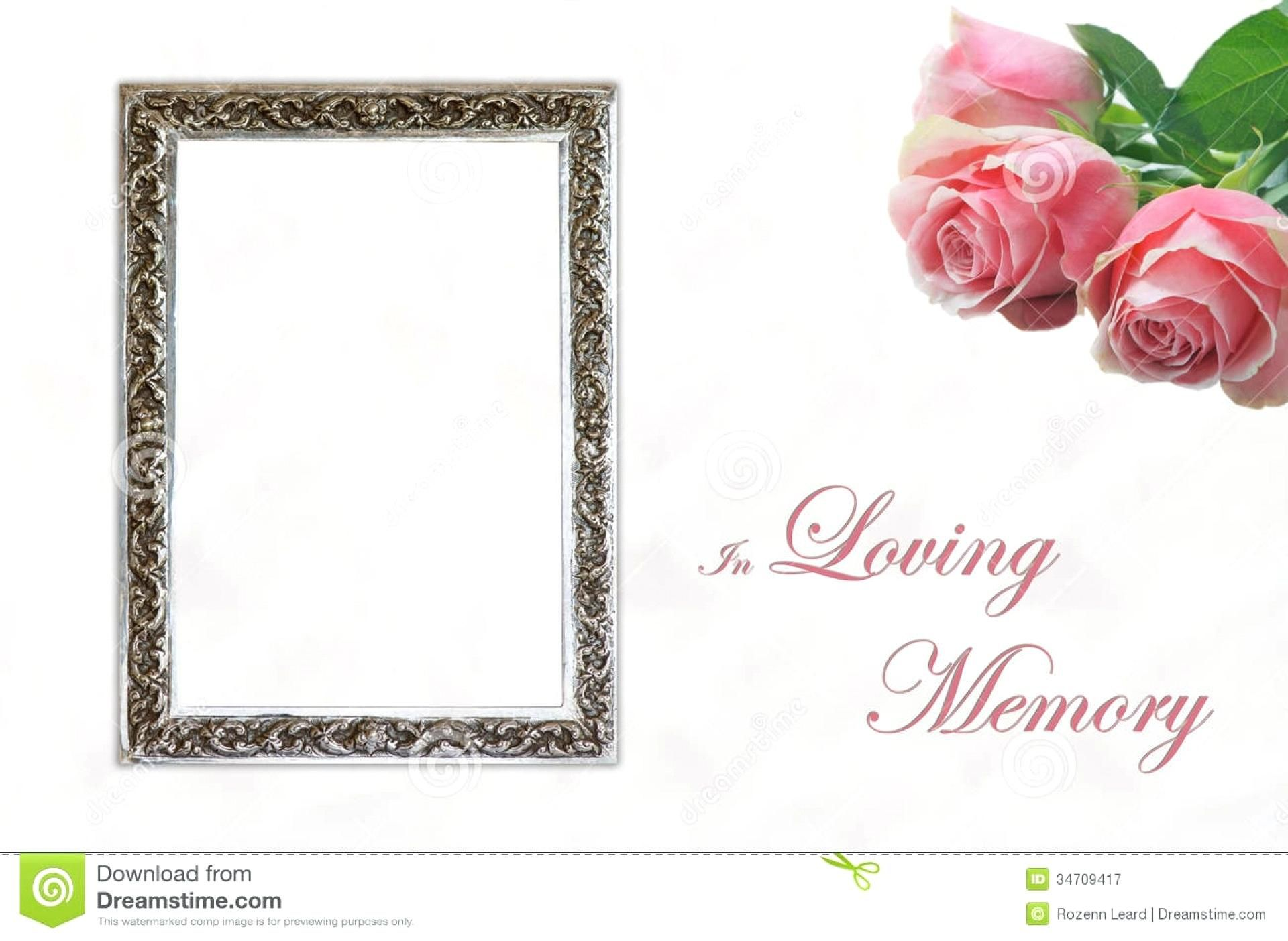 008 Excellent In Loving Memory Template Idea  Templates WordFull