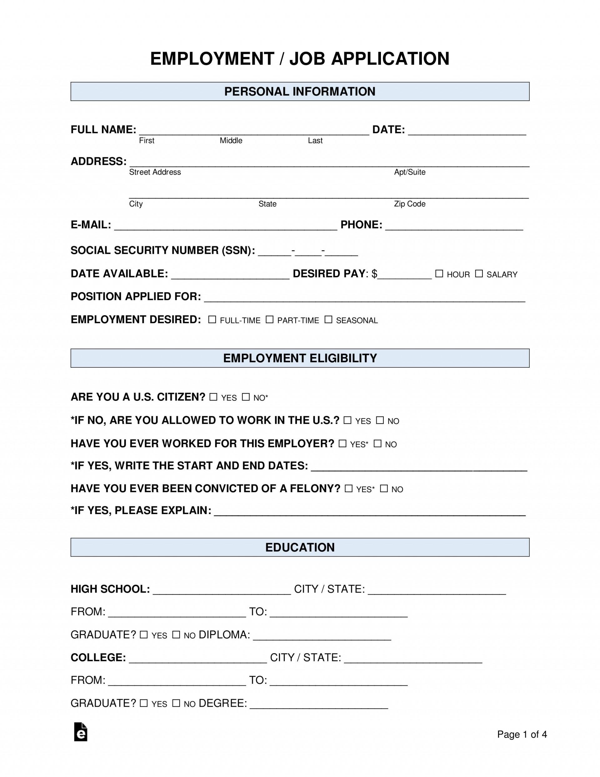 008 Excellent Job Application Template Word Idea  Letter Sample File Document1920
