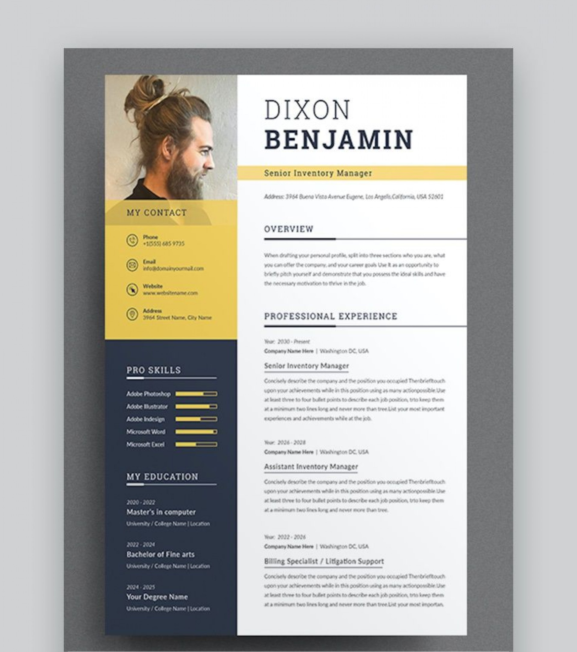 008 Excellent Professional Cv Template Free Word Example  Uk Best Resume Download1920