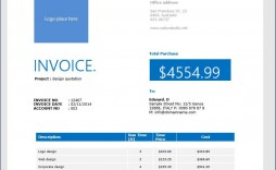 008 Excellent Professional Invoice Template Word Sample  Service Microsoft
