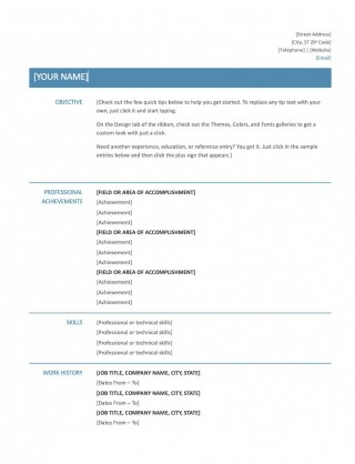 008 Excellent Resume Microsoft Word Template Picture  Cv/resume Design Tutorial With Federal Download320