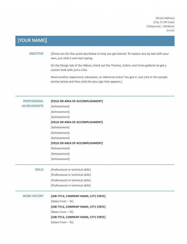 008 Excellent Resume Microsoft Word Template Picture  Cv/resume Design Tutorial With Federal Download728