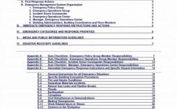 008 Excellent School Emergency Operation Plan Template Michigan High Resolution
