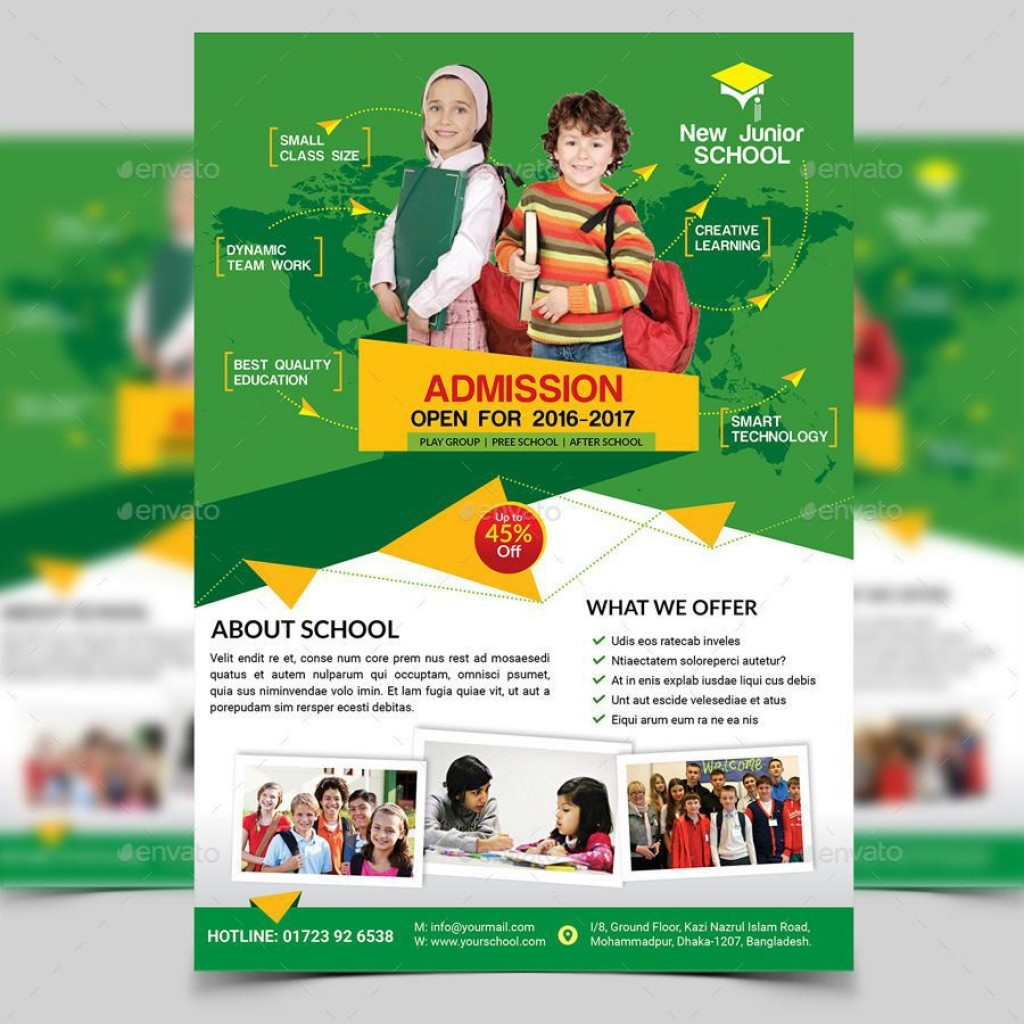 008 Excellent School Picture Day Flyer Template Example  FreeLarge