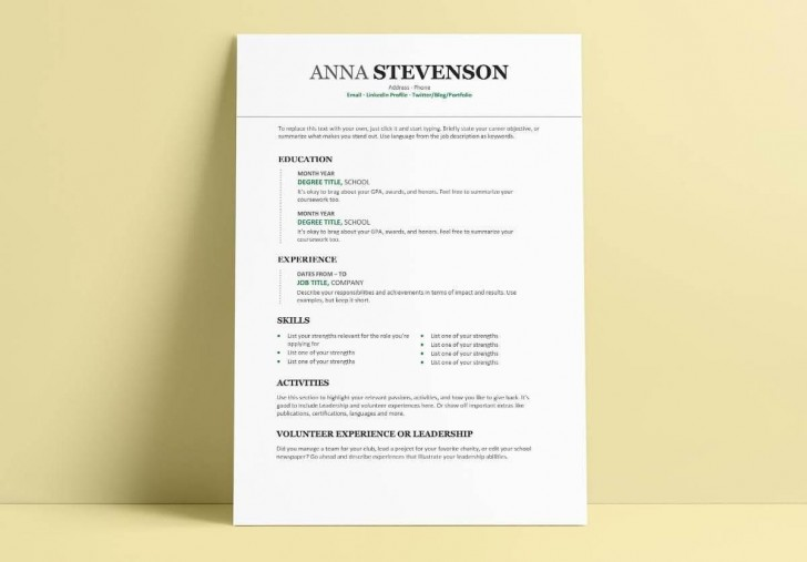 008 Excellent Student Resume Template Word Free Download Inspiration  College Microsoft728