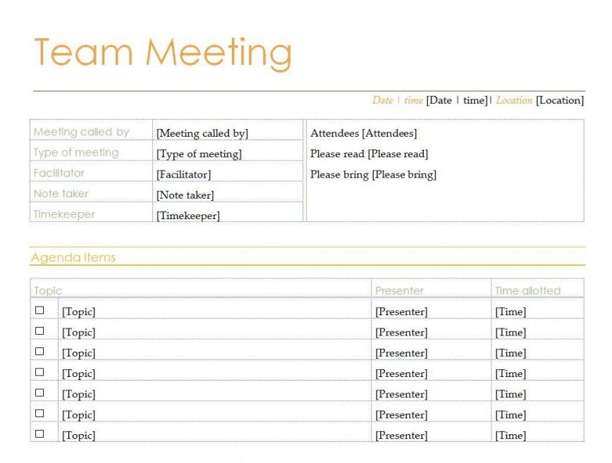 008 Excellent Team Meeting Agenda Template High Def  Pdf Doc