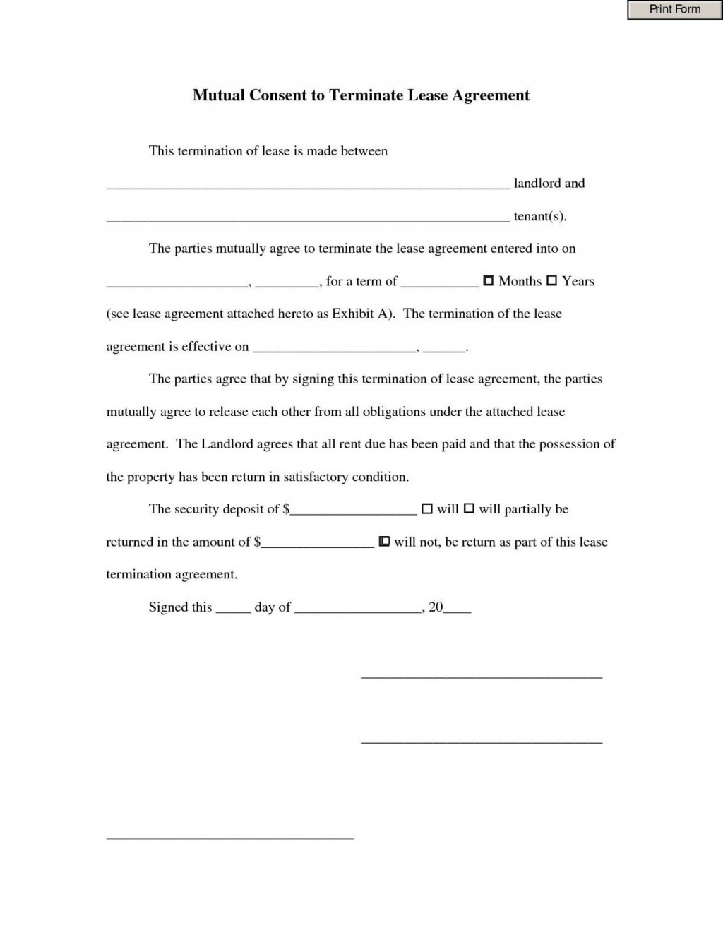 008 Excellent Template For Terminating A Lease Agreement Inspiration  Rental Sample LetterLarge