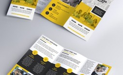 008 Excellent Three Fold Brochure Template Psd Photo  A4 3 Free