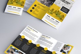 008 Excellent Three Fold Brochure Template Psd Photo  Free 3 A4 Tri Download