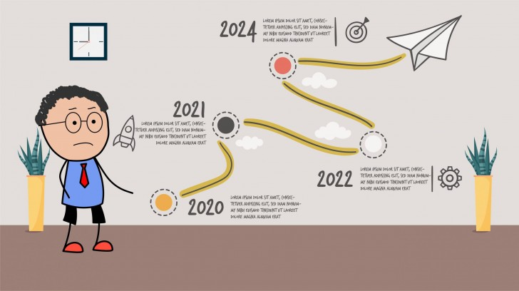 008 Excellent Timeline Graph Template For Powerpoint Presentation Highest Clarity 728