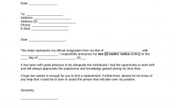 008 Excellent Two Week Notice Letter Template Image  Free Professional 2