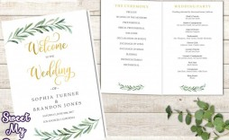 008 Excellent Wedding Order Of Service Template Word Picture  Free Microsoft